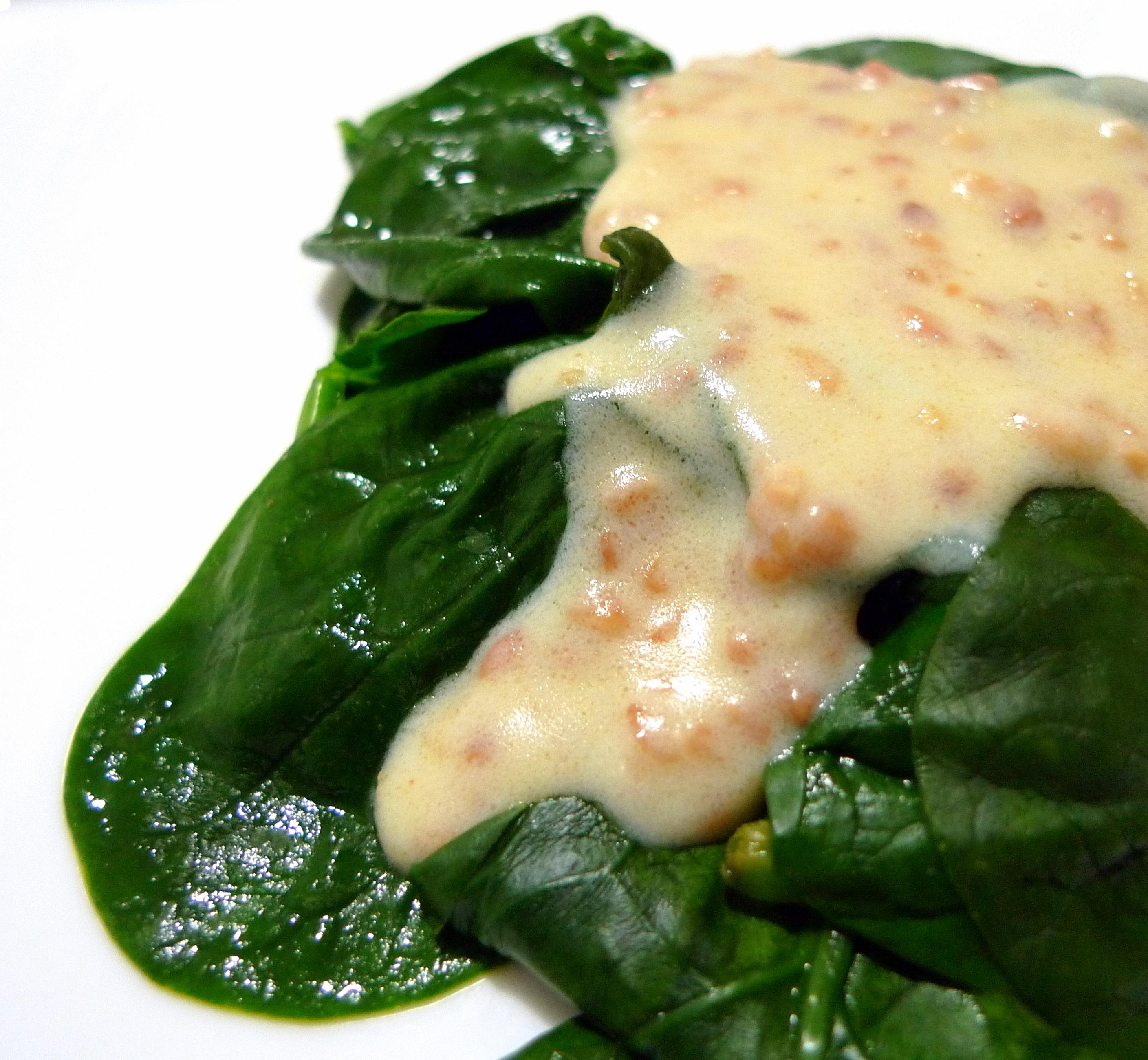 Receta de espinacas con crema recetas cocina for Cocinar espinacas